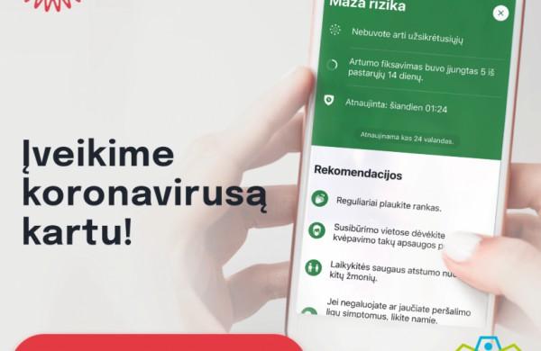 """Mobilioji programėlė """"Korona Stop Lt"""" jau veikia Europoje"""