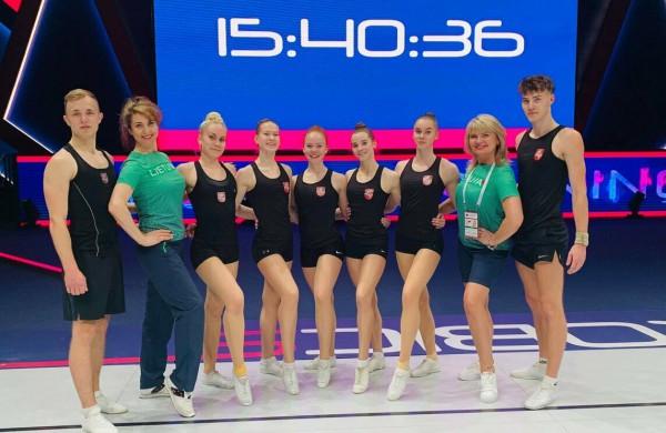 Pasaulio aerobinės gimnastikos čempionate pasirodžiusios jonavietės džiaugiasi turėjusios galimybę atstovauti Lietuvą