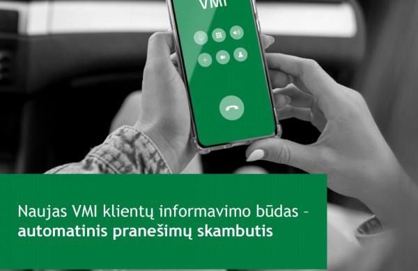 Šiandien daugiau nei 3 tūkst. gyventojų sulauks pirmųjų automatinio skambučio pranešimų iš VMI