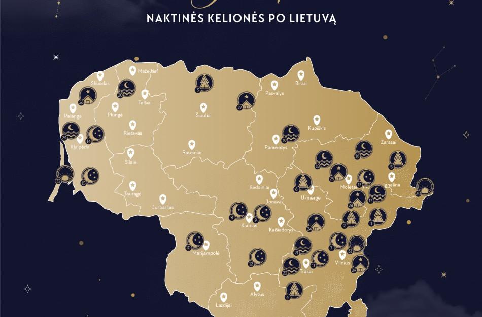 Ilgiems vasaros vakarams – naktinių kelionių po Lietuvą Žvaigždėlapis