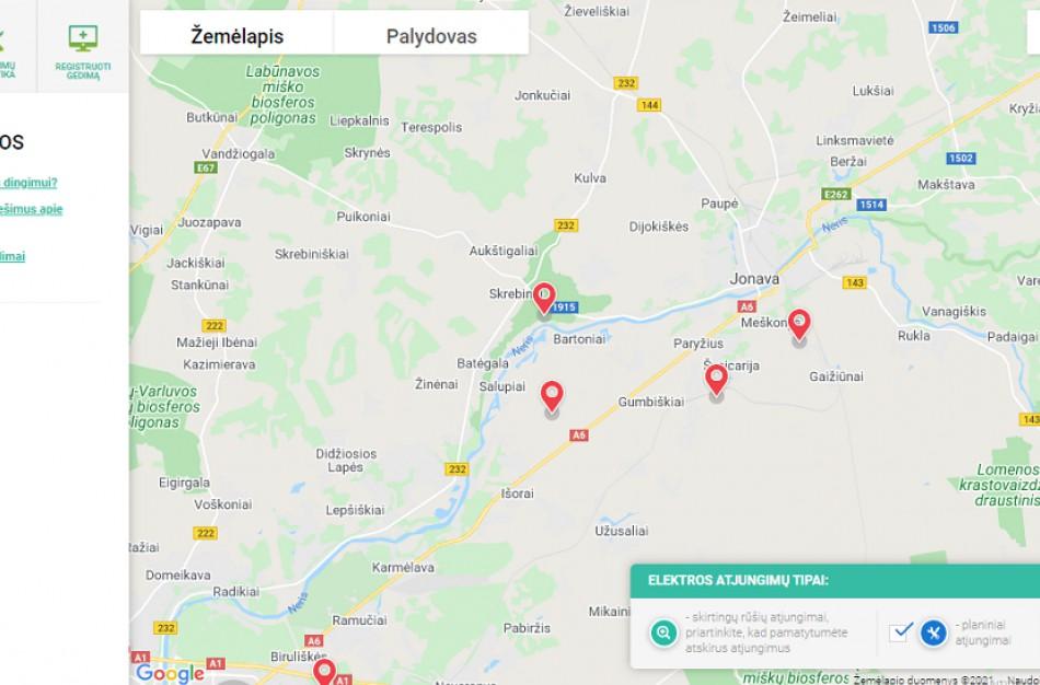 Duomenys apie elektros tiekimą - kokia situacija Jonavoje