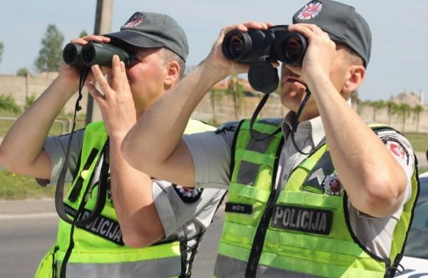 Savaitgalį - policinės prevencinės priemonės