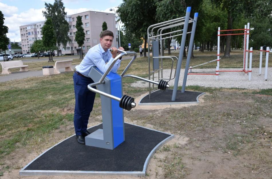 Paneryje įrengti nauji lauko treniruokliai