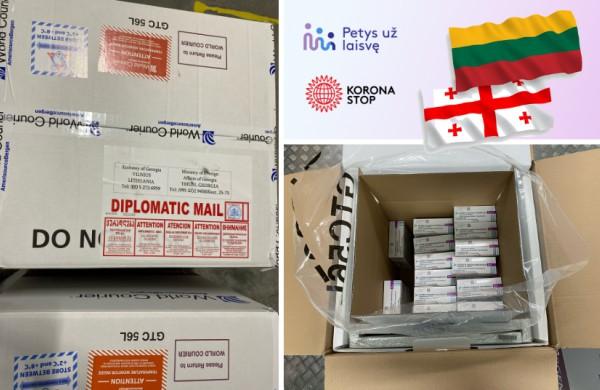 Lietuva dovanoja Sakartvelui 15 tūkst. vakcinos dozių