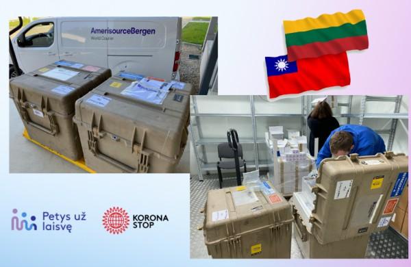 Lietuva dovanoja Taivanui 20 tūkst. vakcinos dozių