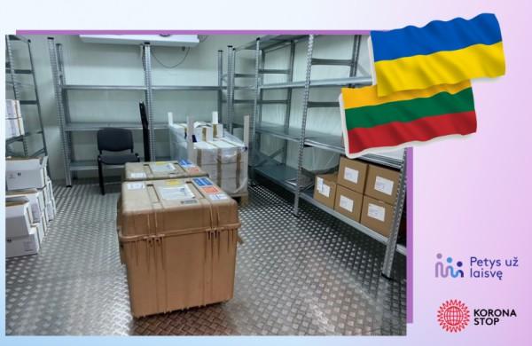 Lietuva padeda Ukrainai kovoje su COVID-19: išsiųsta 54 tūkst. vakcinos dozių