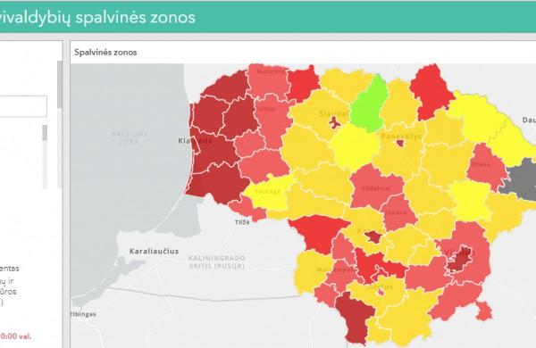 Covid-19 rajone: savivaldybė įtraukta į Raudonąją C1 spalvinę zoną
