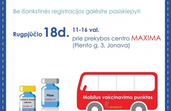"""Šiandien pasiskiepyti be išankstinės registracijos galima prie """"Maxima"""" parduotuvių"""