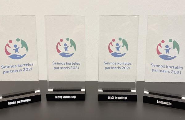 Apdovanoti Šeimos kortelės programoje dalyvaujantys partneriai