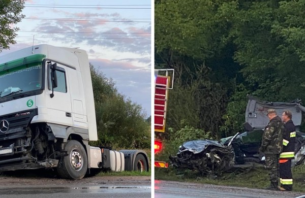 """Po susidūrimo su vilkiku žuvo """"Audi""""  vairuotojas"""