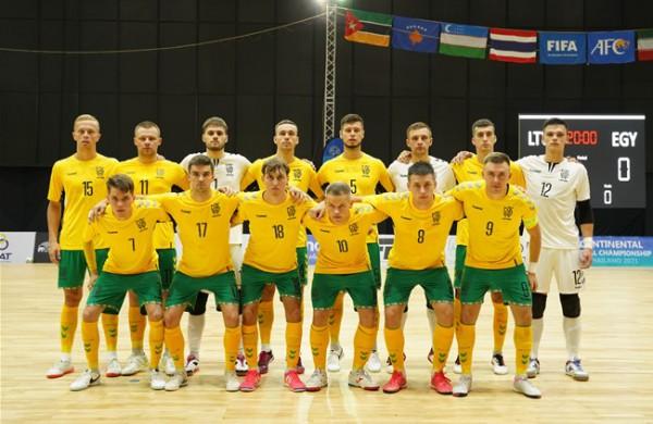 Paaiškėjo galutinė Lietuvos rinktinės sudėtis Pasaulio salės futbolo čempionatui