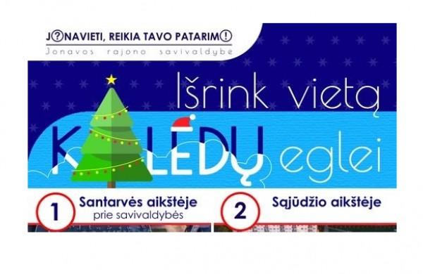 Išrinkime vietą Kalėdų eglutei, kviečia meras Mindaugas Sinkevičius