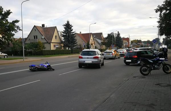 Paaiškėjo aplinkybės apie miesto centre nuvirtusį motociklą