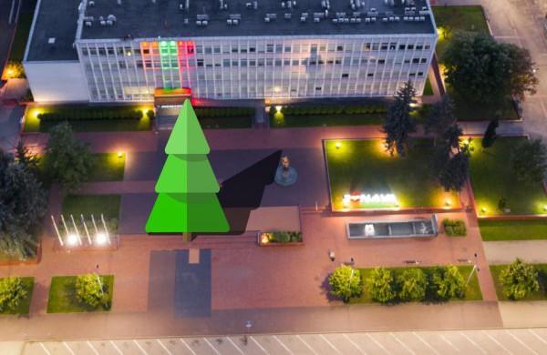 Kalėdų eglė bus statoma Santarvės aikštėje, vėl kuriamas eglučių miestelis