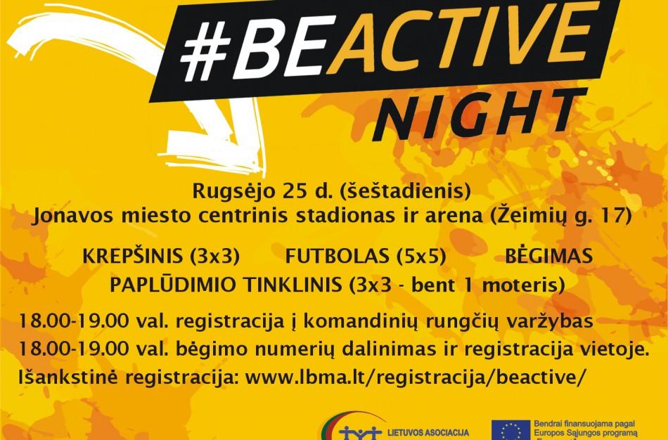 Jau rugsėjo 25 d. BeActive night Jonavoje