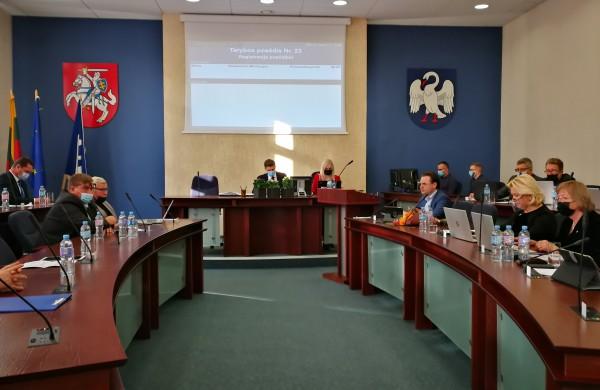 Vyksta dvidešimt trečiasis rajono savivaldybės tarybos posėdis