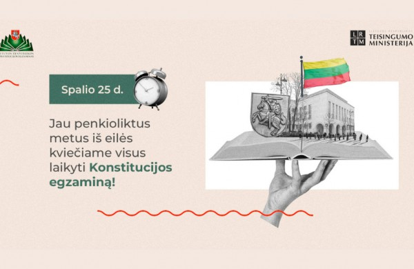 Konstitucijos egzaminas apjungs viso pasaulio lietuvius