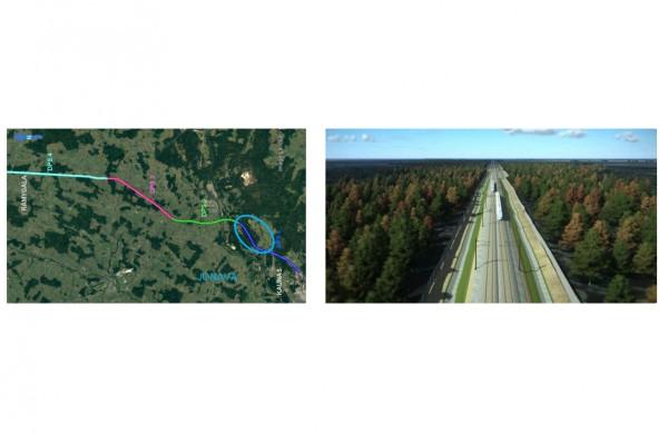 Parengti naujo ruožo Kaunas (Palemonas)-Šveicarija projektiniai pasiūlymai