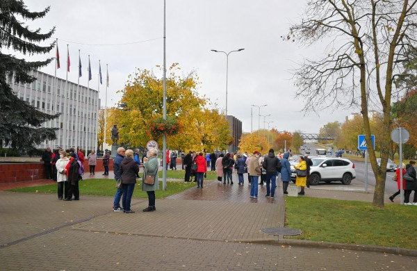 Šiandien surengta tylaus protesto eisena prieš Jonavos ligoninės reorganizavimą