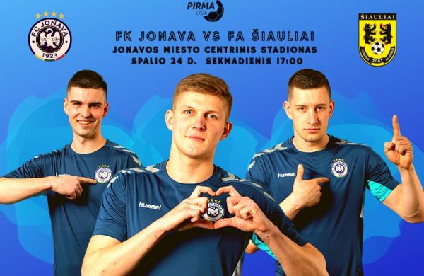 Jonavos futbolininkai sekmadienį namų stadione žais lemiamas  rungtynes!