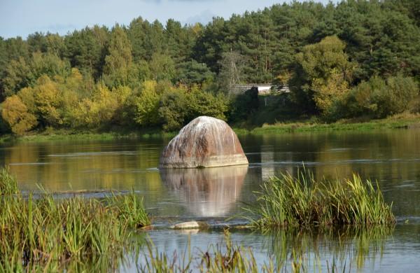 Gaidelio akmuo - didžiausias Lietuvos upių Užusalių seniūnijoje.